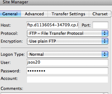 connect to ftp server with filezilla