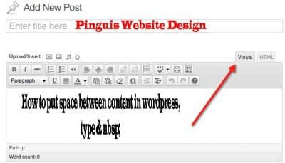 Wordpress Visual Editor and Text Editor in WordPress